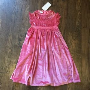 Just Couture Rose Pink Velvet Dress NWT 3T